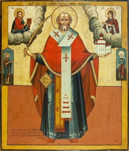 Mikołaj Możajski, ikona z 1810r z Timanova, Rosja