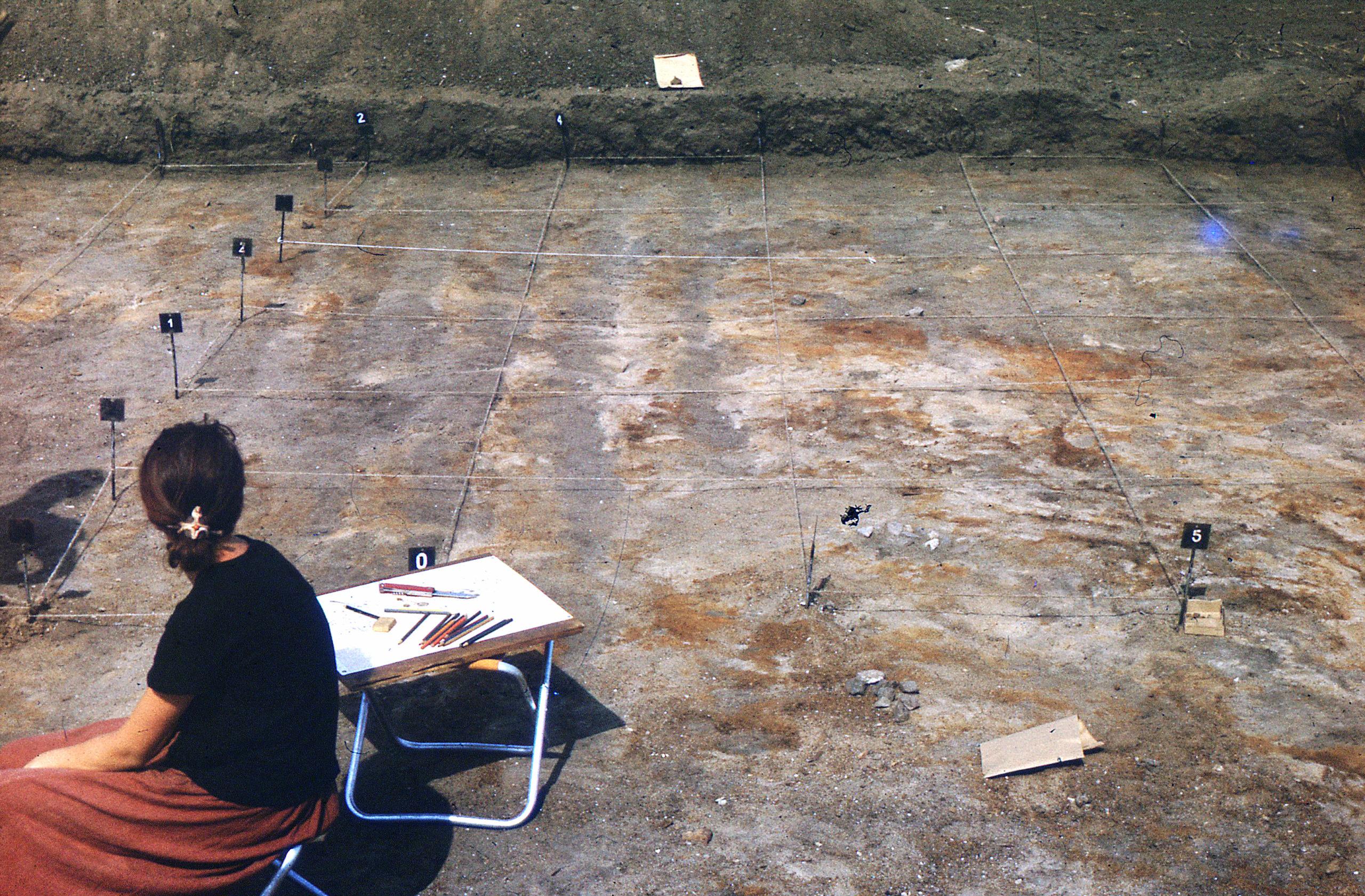 Badania archeologiczne na terenie osady Truso. Zdjęcie archiwalne.